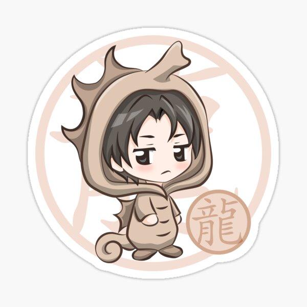 Chibi Hatori Dragon Zodiac Fruits Basket Sticker