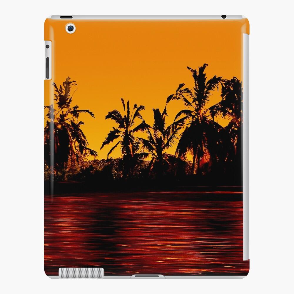 Tropical Sunset Paradise Funda y vinilo para iPad