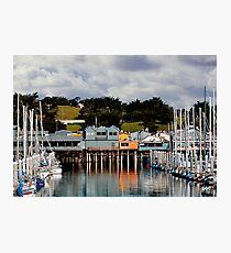 Monterey Boat Harbor and Old Fisherman's Wharf Photographic Print