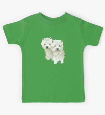 westies (mother and daughter) Kids Clothes