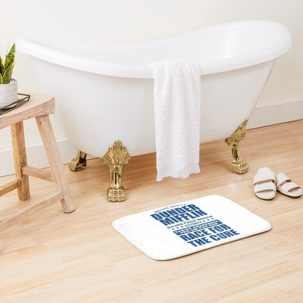 Dunder Mifflin Rabies Awareness Race for the Cure Bath Mat