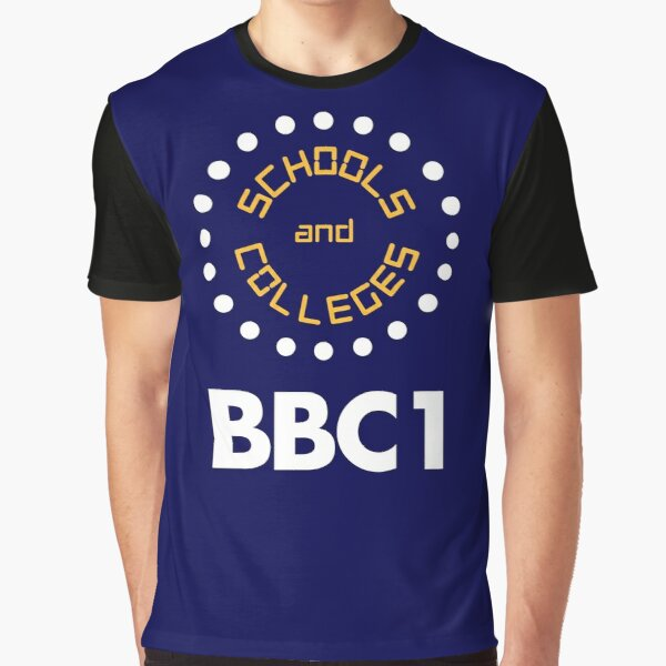 NDVH BBC1 Schools and Colleges - 1970s Graphic T-Shirt