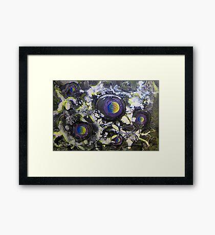 Space 5, an acrylic painting * Framed Print