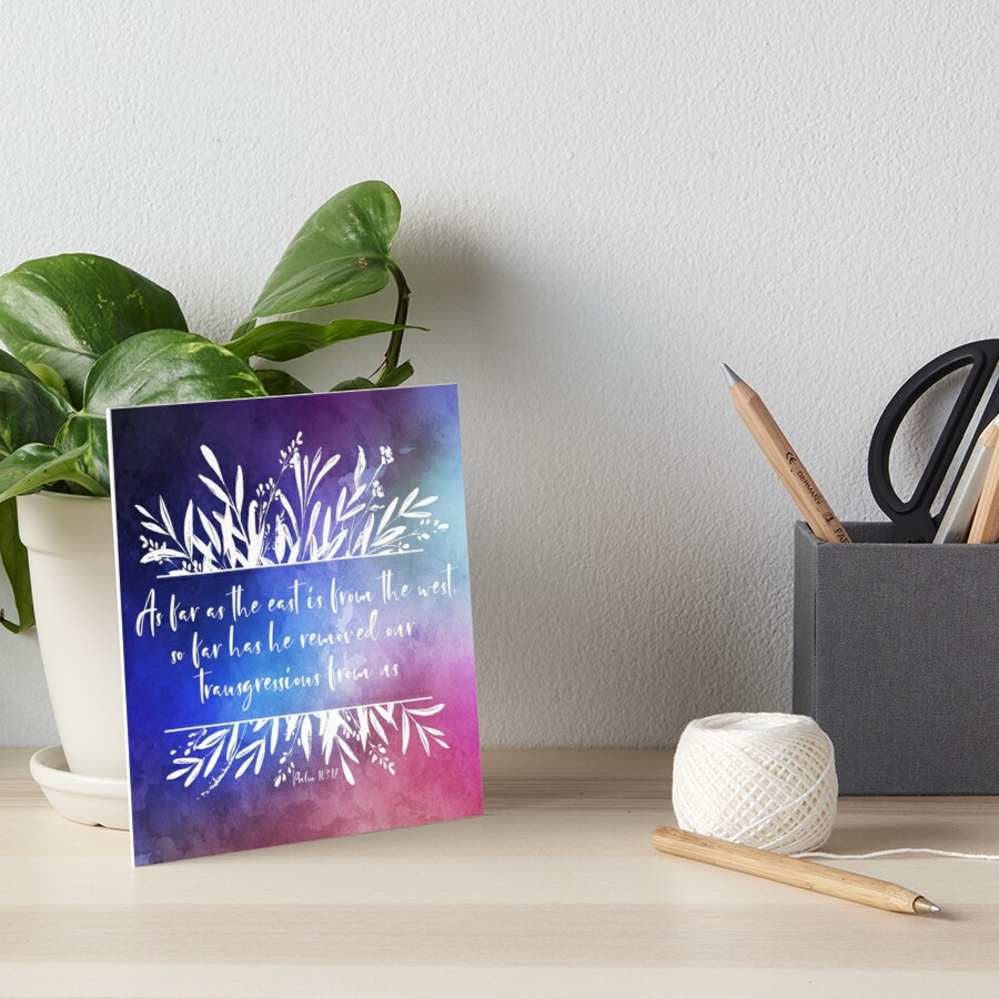As Far As the East is from the West   Bible Verse Gift Idea Galeriedruck