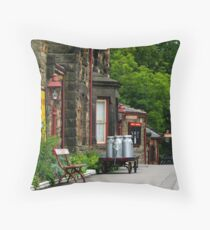 Goathland station Throw Pillow