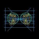 Vitruvian Space Man von Plan8
