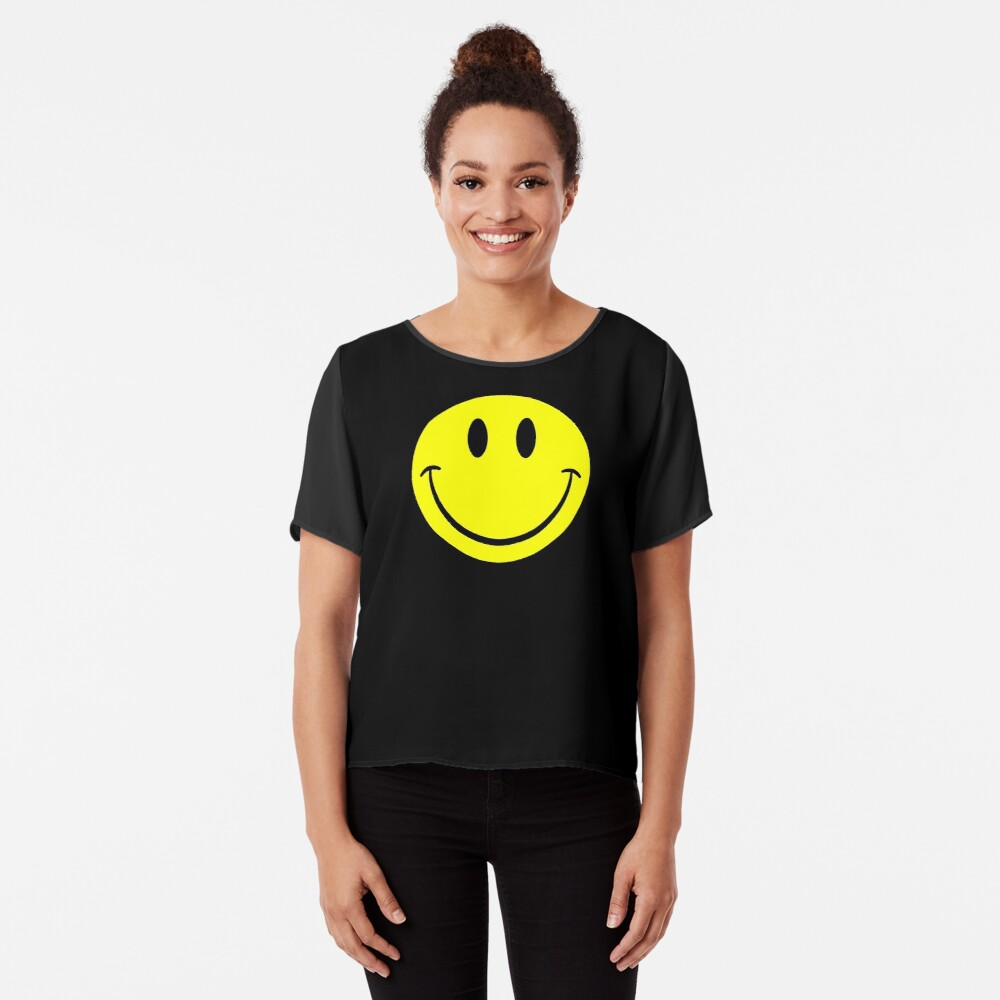 NDVH Smiley Chiffon Top