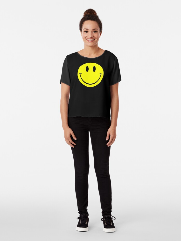 Alternate view of NDVH Smiley Chiffon Top