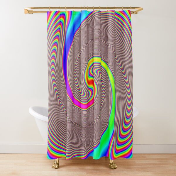 #Creativity, #abstract, #psychedelic, #illustration, decoration, design, art, proportion, rainbow, shape, funky, vortex, color image Shower Curtain