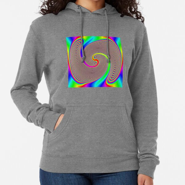 #Creativity, #abstract, #psychedelic, #illustration, decoration, design, art, proportion, rainbow, shape, funky, vortex, color image Lightweight Hoodie