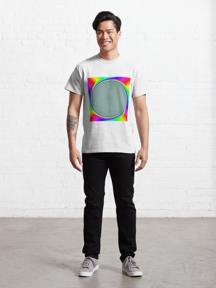 Alternate view of #Rainbow, #creativity, #prism, #bright, abstract, nature, design, eyesight, color image, multi colored Classic T-Shirt