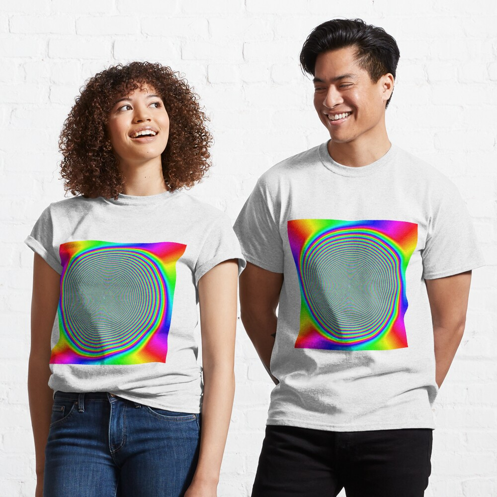 #Rainbow, #creativity, #prism, #bright, abstract, nature, design, eyesight, color image, multi colored Classic T-Shirt