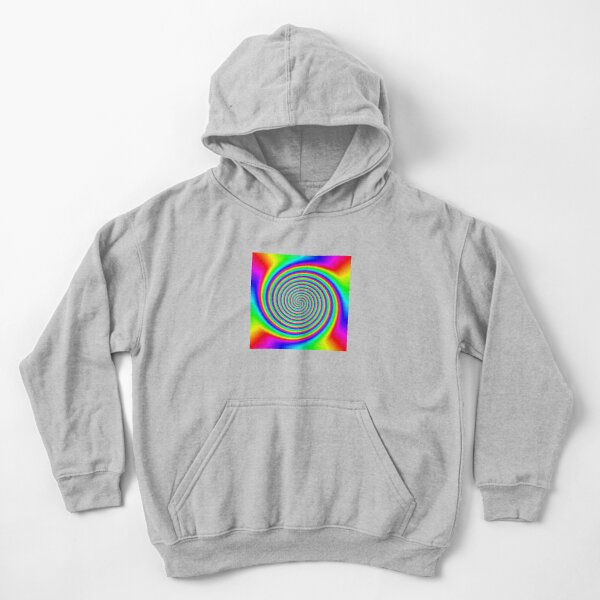 #Rainbow, #creativity, #bright, #prism, vortex, psychedelic, design, art, color image, multi colored Kids Pullover Hoodie
