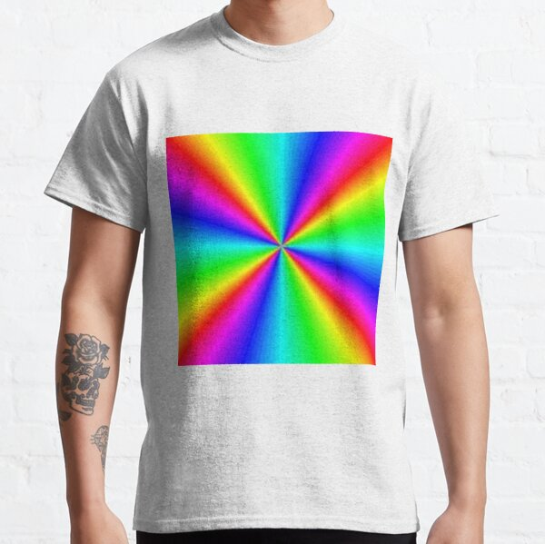 #Prism, #creativity, #bright, #rainbow, spectrum, psychedelic, futuristic, art, vortex, color image Classic T-Shirt