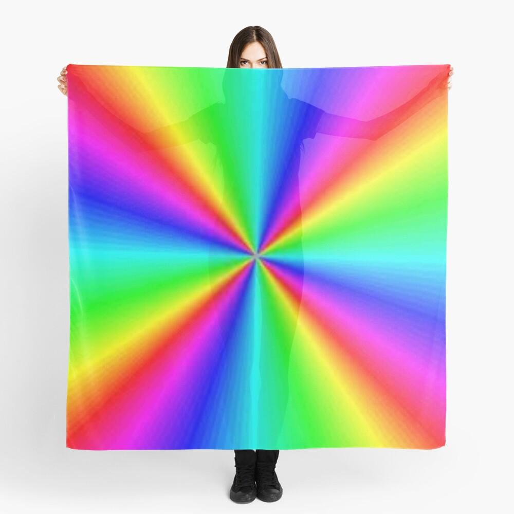 #Prism, #creativity, #bright, #rainbow, spectrum, psychedelic, futuristic, art, vortex, color image Scarf