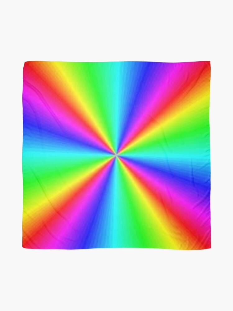 Alternate view of #Prism, #creativity, #bright, #rainbow, spectrum, psychedelic, futuristic, art, vortex, color image Scarf