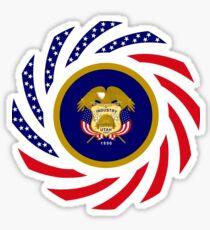 Utah Murican Patriot Flag Series Sticker
