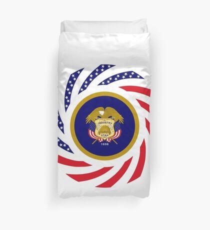 Utah Murican Patriot Flag Series Duvet Cover
