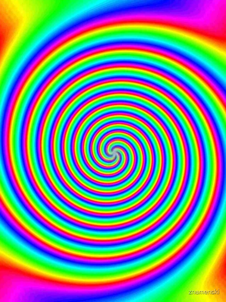 #Rainbow, #creativity, #bright, #prism, vortex, psychedelic, design, art, color image, multi colored by znamenski