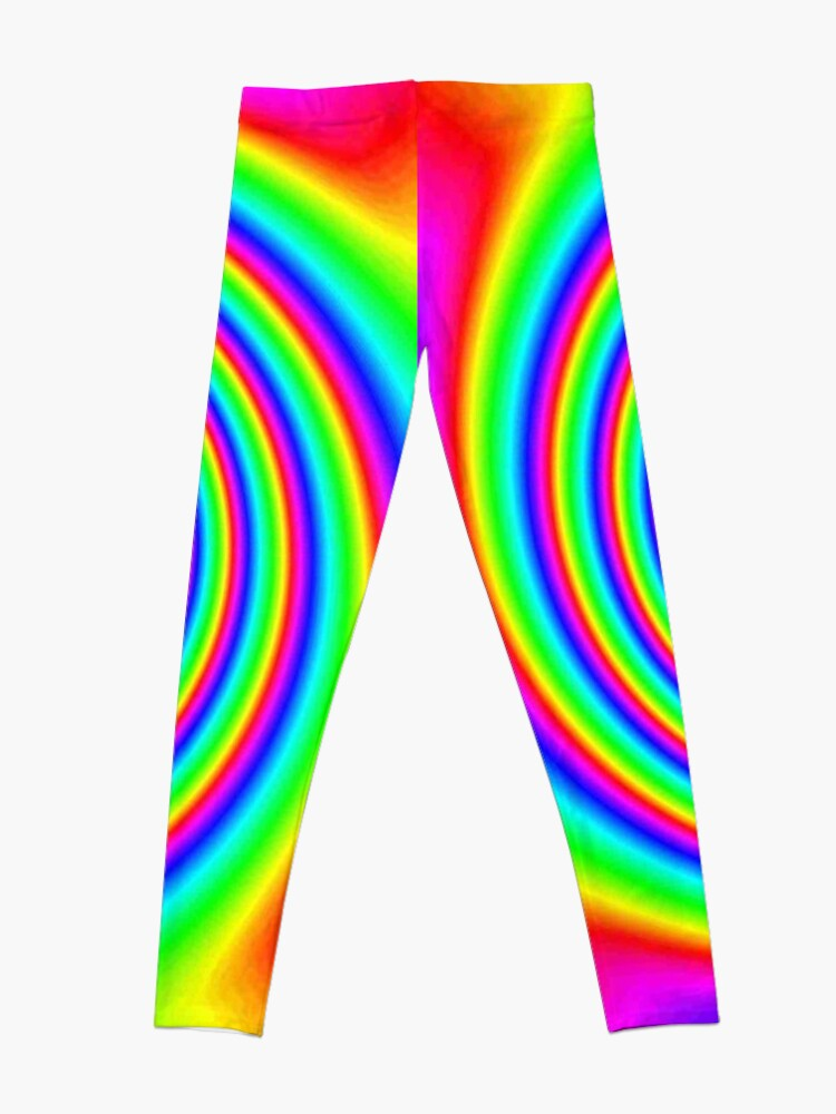 Alternate view of #Rainbow, #creativity, #bright, #prism, vortex, psychedelic, design, art, color image, multi colored Leggings