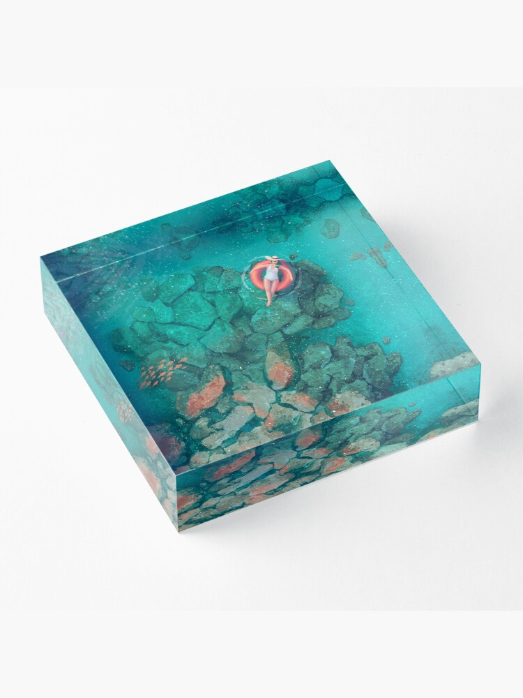 Alternate view of Saltwater Summer Acrylic Block