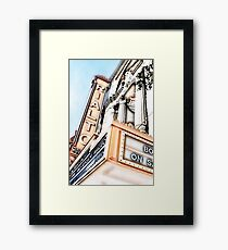 rialto square theater, joliet, illinois Framed Print