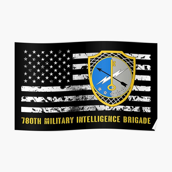 66th Military Intelligence Brigade Poster By Militarycanda Redbubble