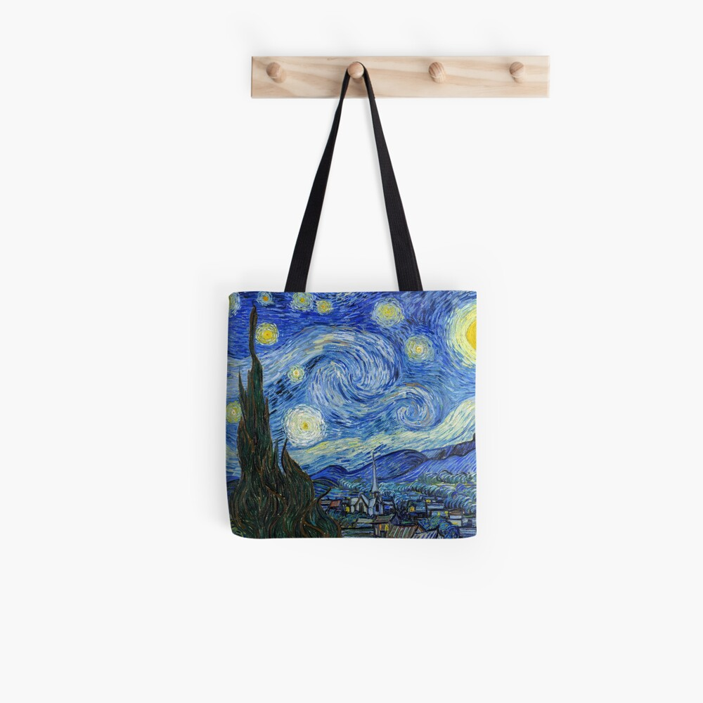The Starry Night, Vincent van Gogh, 1889 | Ultra High Resolution Tote Bag
