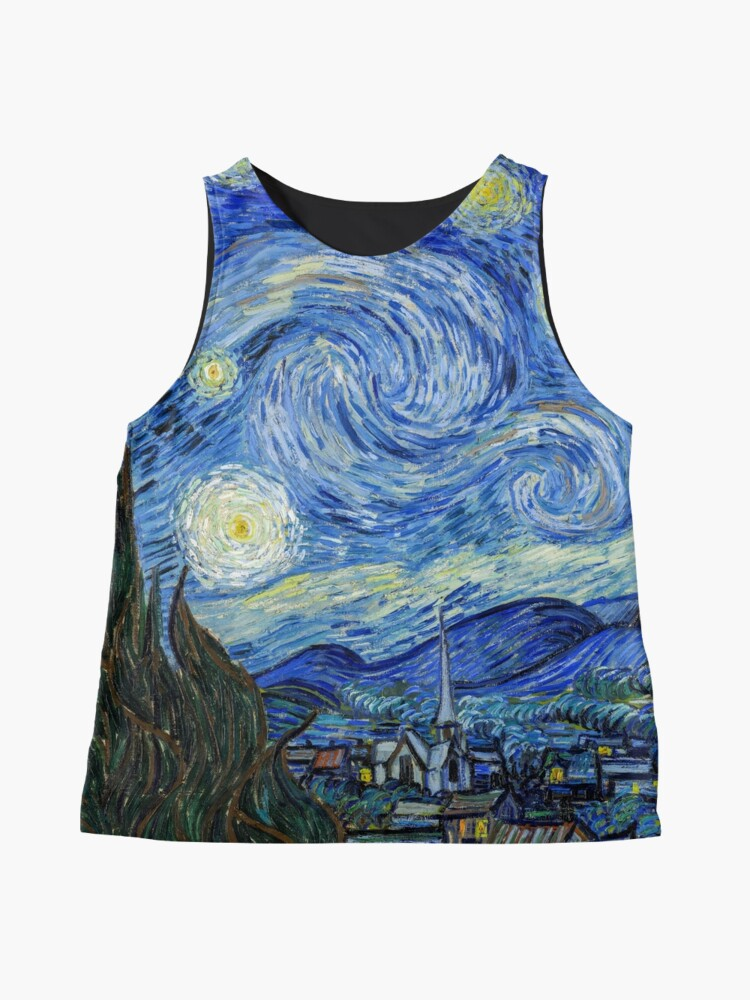 Alternate view of The Starry Night, Vincent van Gogh, 1889 | Ultra High Resolution Sleeveless Top