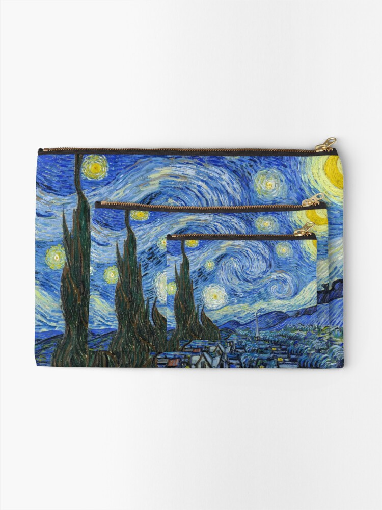 Alternate view of The Starry Night, Vincent van Gogh, 1889 | Ultra High Resolution Zipper Pouch