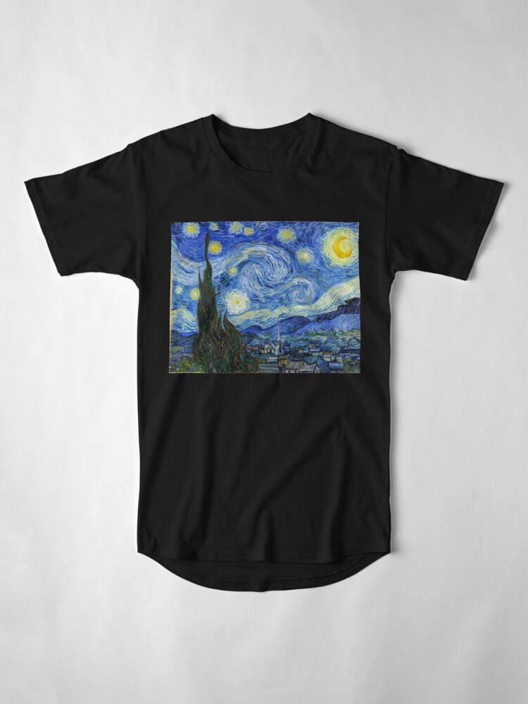 Alternate view of The Starry Night, Vincent van Gogh, 1889 | Ultra High Resolution Long T-Shirt
