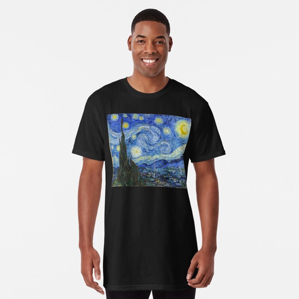 The Starry Night, Vincent van Gogh, 1889 | Ultra High Resolution Long T-Shirt
