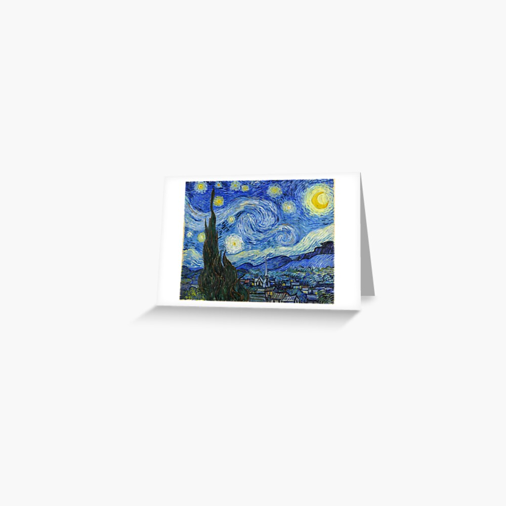 The Starry Night, Vincent van Gogh, 1889 | Ultra High Resolution Greeting Card
