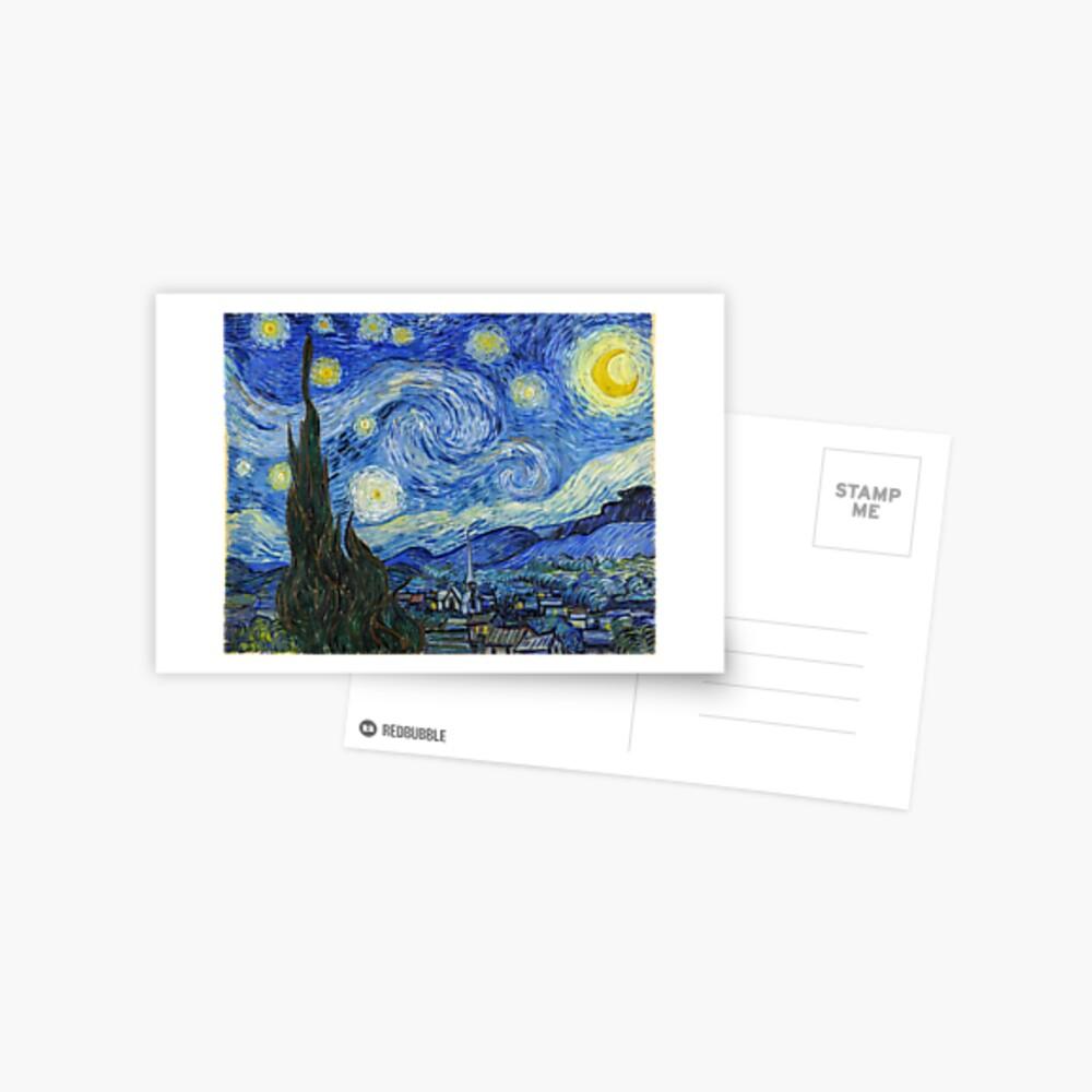 The Starry Night, Vincent van Gogh, 1889 | Ultra High Resolution Postcard