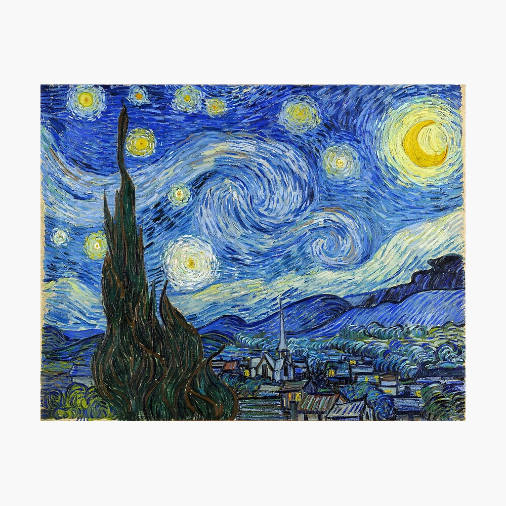 The Starry Night, Vincent van Gogh, 1889 | Ultra High Resolution Photographic Print