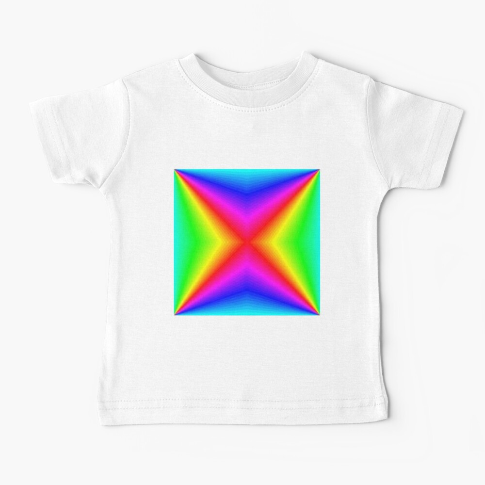 #bright, #prism, #creativity, #futuristic, psychedelic, art, rainbow, vortex, spectrum, abstract, sparkling, color image Baby T-Shirt
