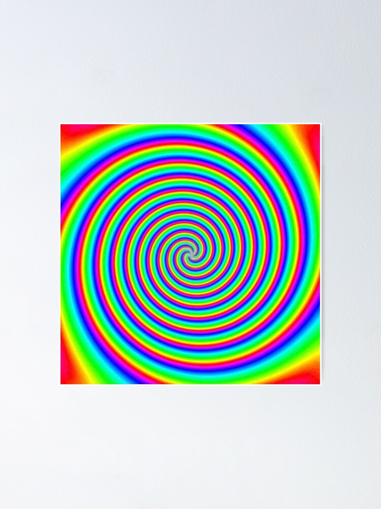 Alternate view of #Vortex, #psychedelic, #rainbow, #creativity, twirl, bright, abstract, twist, design, vibrant color, color image, multi colored Poster