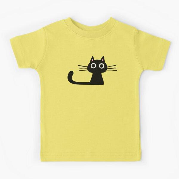 Cutie Kitty Cat Wide Eyed Black Kitten Kids T-Shirt