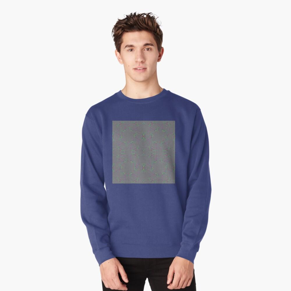#Pattern, #abstract, #decoration, #art, repetition, ornate, design, illustration Pullover Sweatshirt