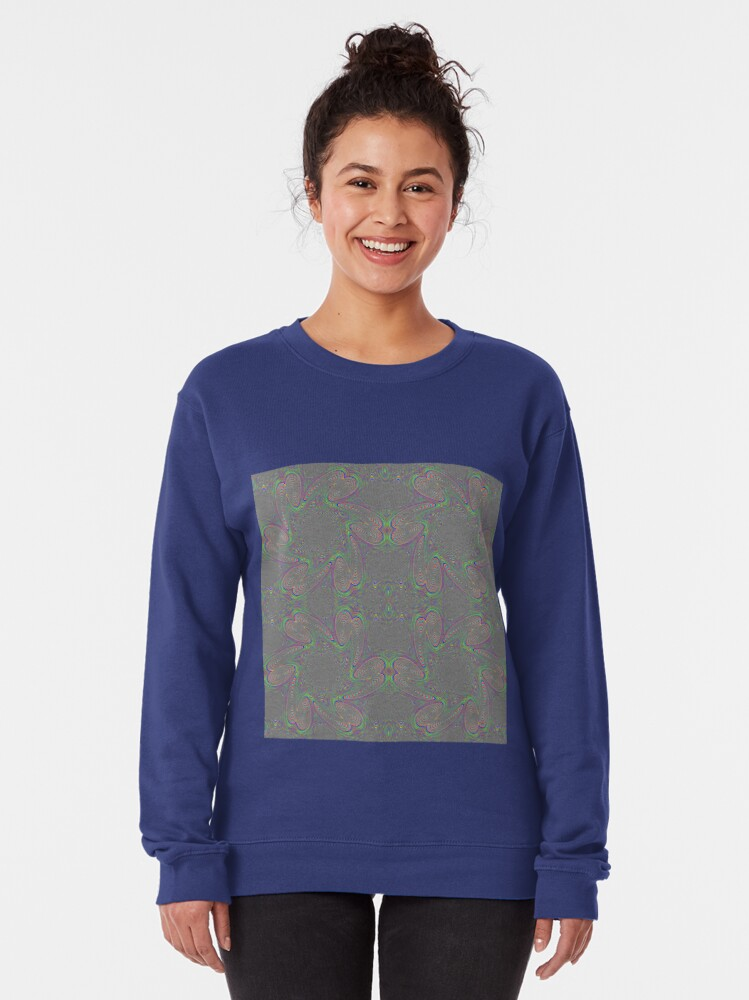 Alternate view of #Pattern, #abstract, #decoration, #art, repetition, ornate, design, illustration Pullover Sweatshirt