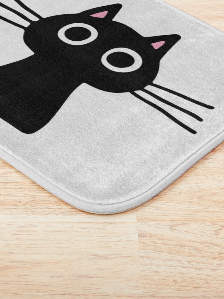 Alternate view of Cutie Kitty Cat Wide Eyed Black Kitten Bath Mat