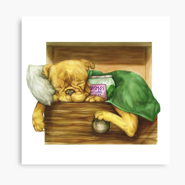 Jake the dog and Prismo's pickles Canvas Print