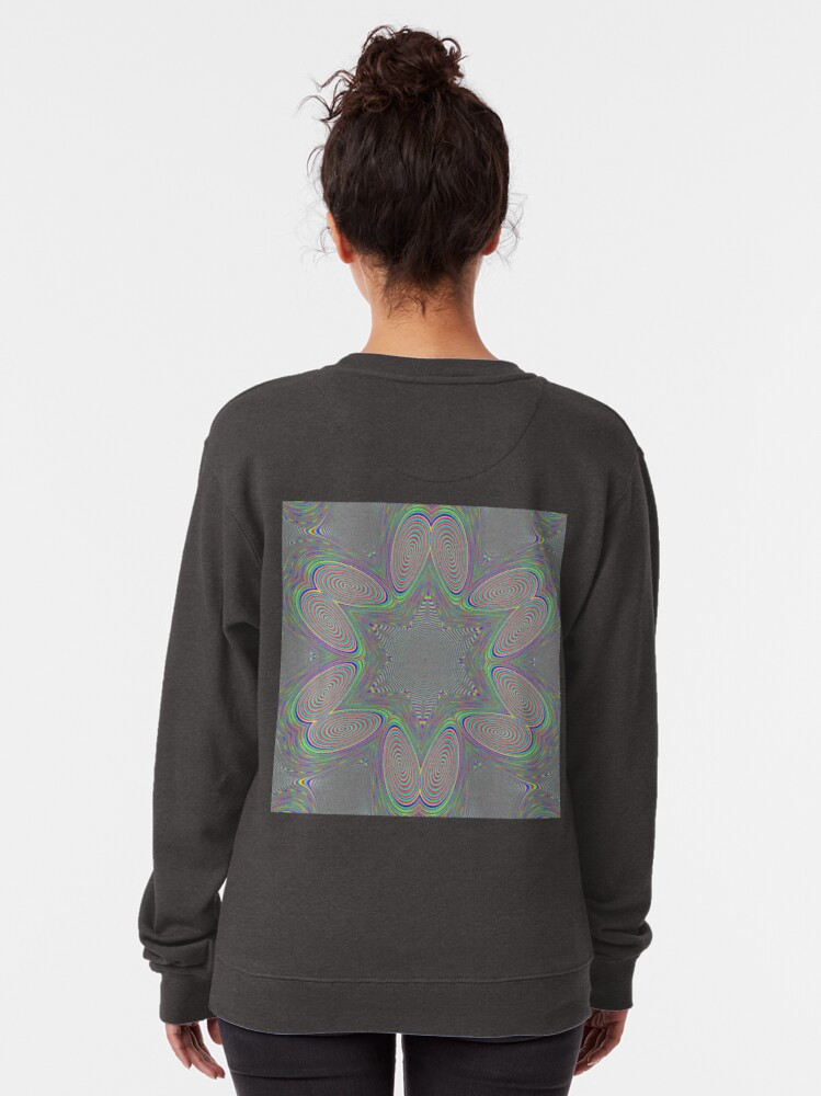 Alternate view of #Games of #multicolored #spirals on the #plane Pullover Sweatshirt