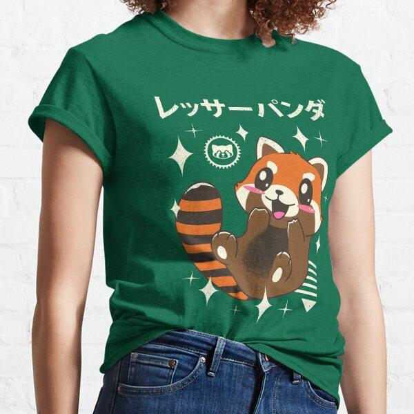 Panda rouge de Kawaii T-shirt classique