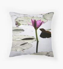 Lily on the water! Throw Pillow