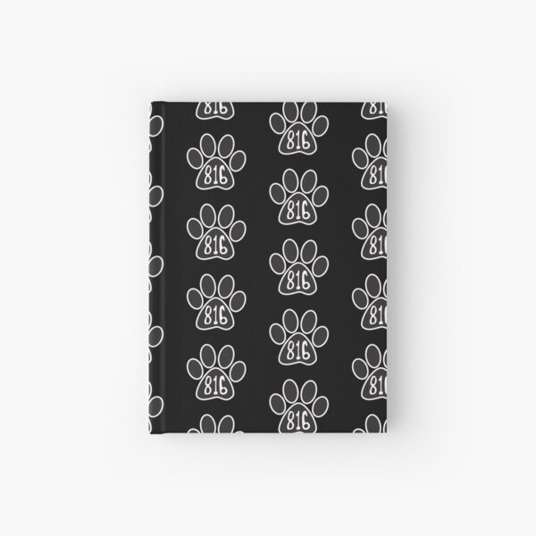 Hand Drawn Paw Missouri State 816 Area Code  Hardcover Journal