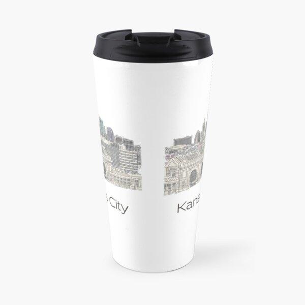 Hand Drawn Kansas City Skyline Travel Mug
