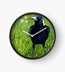 Magpie - Flowers for You Clock