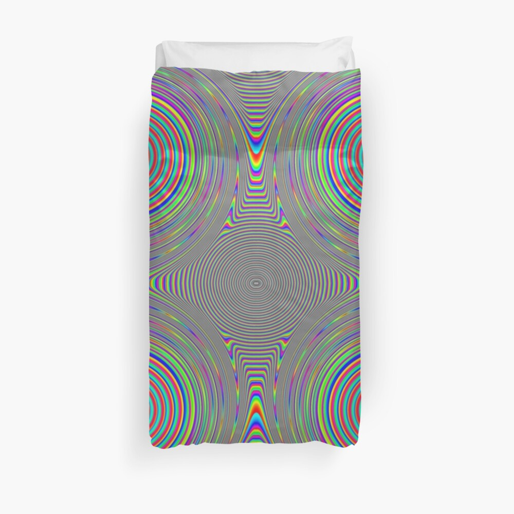 #Games of #multicolored #spirals on the #plane Duvet Cover
