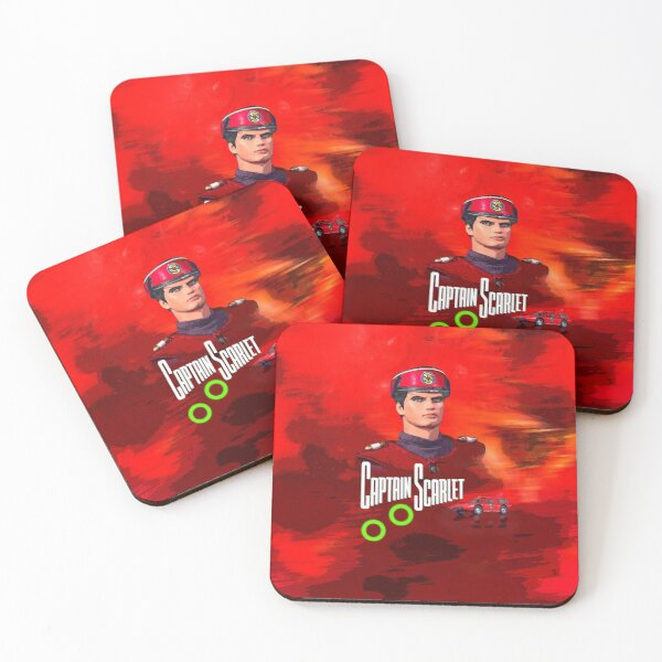 Captain Scarlet drawing 1 Coasters (Set of 4)